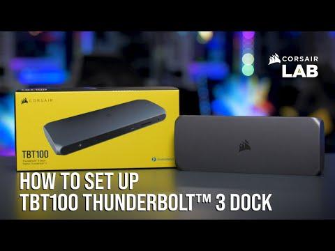 How to Set Up the CORSAIR TBT100 Thunderbolt 3 Dock