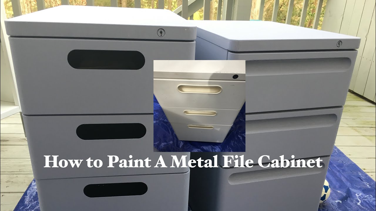How To Paint Metal File Cabinet Spray Paint Vs Roller Part 2 Paint Metal File Cabinet