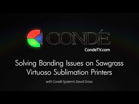 Solving Banding Issues on Sawgrass Virtuoso Sublimation Printers