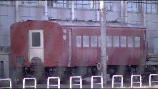 【東武】整備中の14系ドリームカー、6050系快速表示、野外留置のヨ8709