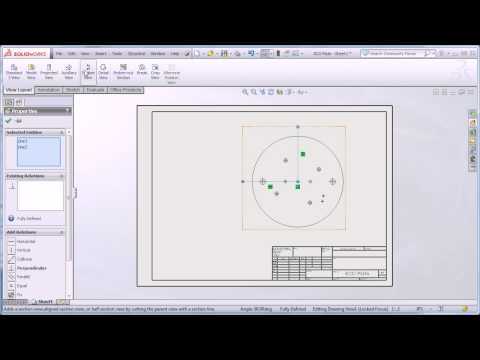Creating A Section View In Your Solidworks Drawings Doovi