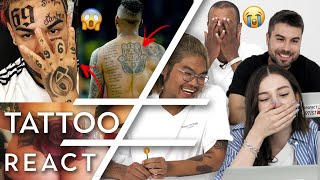 Mommy i'm sorry reacts to tattoos #01   6ix9ine, jerome boateng, bushido