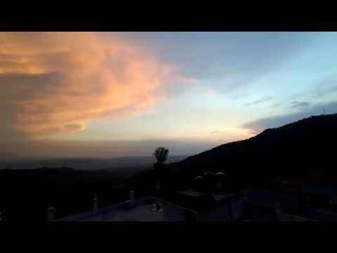 Changing weather Timelapse over Dharamsala, India