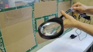 Обзор лупы на штативе с подсветкой от Алиэкспресс