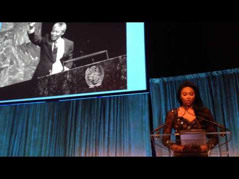 Miss USA 2012, Pays Tribute to Nelson Mandela at The 2013 United Nations Correspondents Dinner