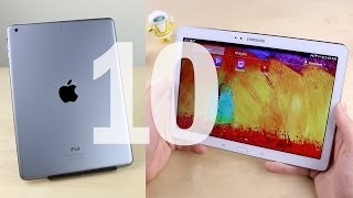 10 Advantages iPad Air vs. Galaxy Note 10.1