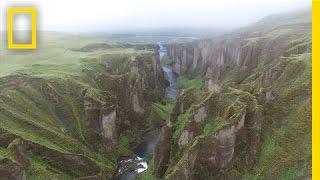 Drone POV: Soaring Over Iceland's Rugged Landscape