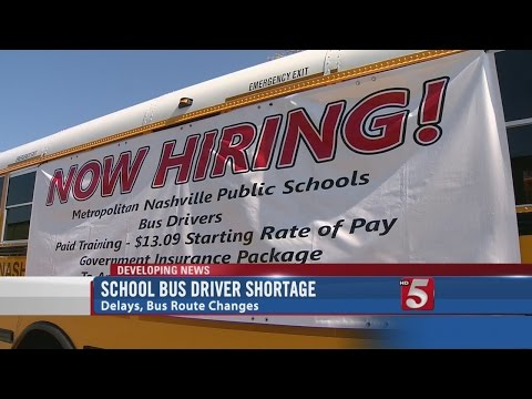 School Bus Driver Shortage Causes Problems For Thousands of MNPS Students