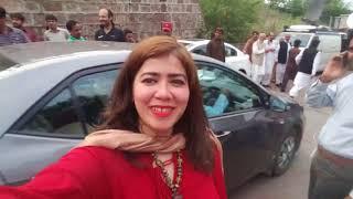 Nadia Khattak   Banigala mae logo ke ronak after press conference