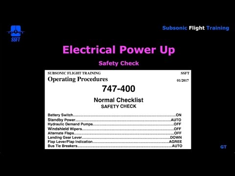 Safety Check and Preliminary Preflight Procedure (PMDG 747-400)