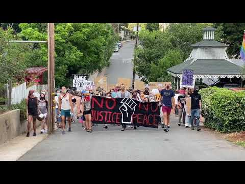 BLM protest in Nevada City on 8/9/2020