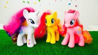 Май ЛитлПони: Вечеринка для Флаттершай. Мультик с игрушками