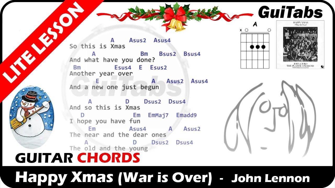 Happy Xmas War Is Over John Lennon Lyrics Guitar Chords Karaoke Youtube