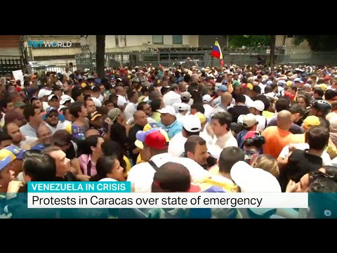 Protests in Caracas over state of emergency, Jack Parrock reports