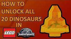 LEGO Jurassic World All 20 Amber Brick Locations - How to Unlock All 20 Dinosaurs
