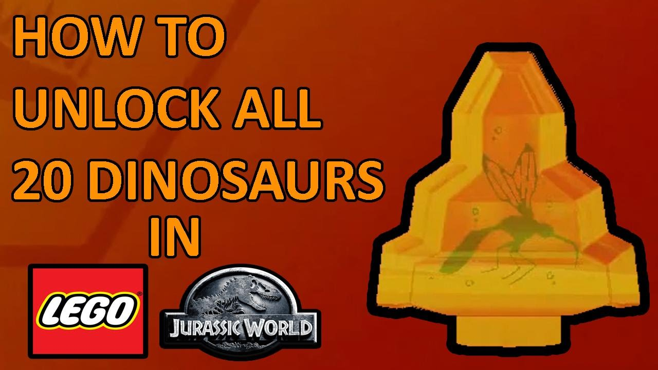 Lego Jurassic World All 20 Amber Brick Locations How To Unlock All