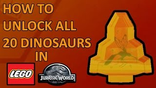 Lego Jurassic World All 20 Amber Brick Locations - How To Unlock All 20 Dinosaur