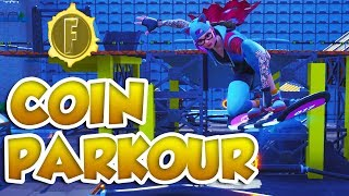 FORTNITE HOVERBOARD COIN PARKOUR! - Fortnite creative