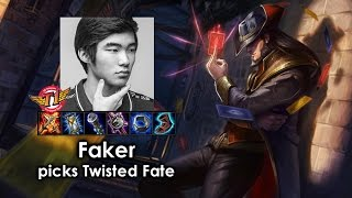 Faker picks Twisted Fate