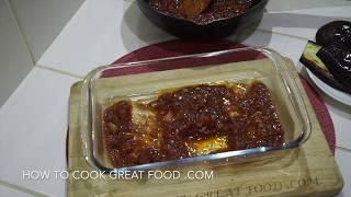 Eggplant Parm - Eggplant Parmigiana - Eggplant Parmesan - Aubergine Cheese Tomato Recipe