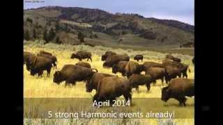 YELLOWSTONE SUPERVOLCANO NEWS! Full Harmonics Report: 2014 Helium-3 bursts into space!