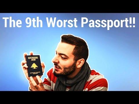 THE LEBANESE PASSPORT: THE 9TH WORST PASSPORT!!