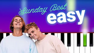 Surfaces - Sunday Best (100% EASY PIANO TUTORIAL)