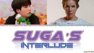 HALSEY - #39SUGA#39S Interlude#39 feat BTS SUGA Lyrics Color CodedHanRomEng