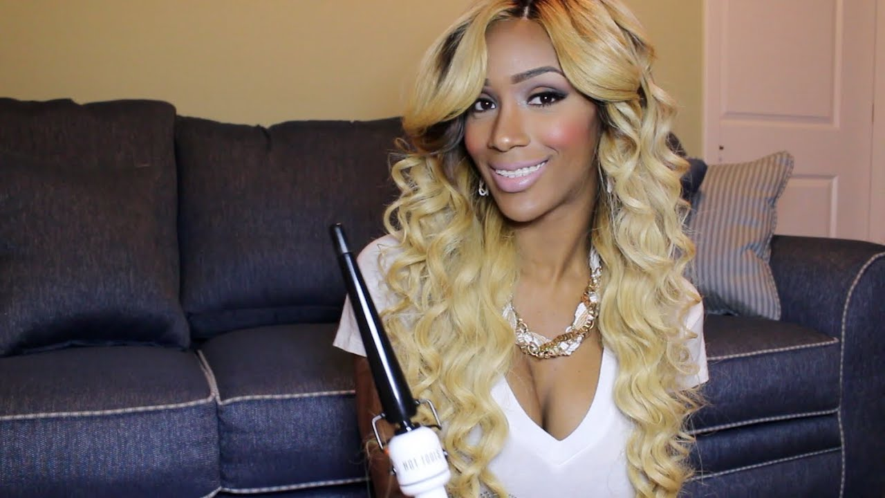Spiral Beautiful Sexy Wand Curls Lace Closure Youtube