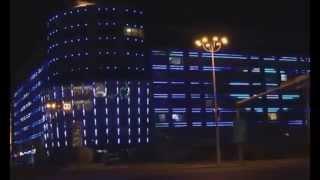 LED подсветка на ТЦ. Архитектурная подсветка.(Светодиодная подсветка на торговом центре. LED подсветка коммерческой недвижимости., 2015-10-07T07:30:08.000Z)