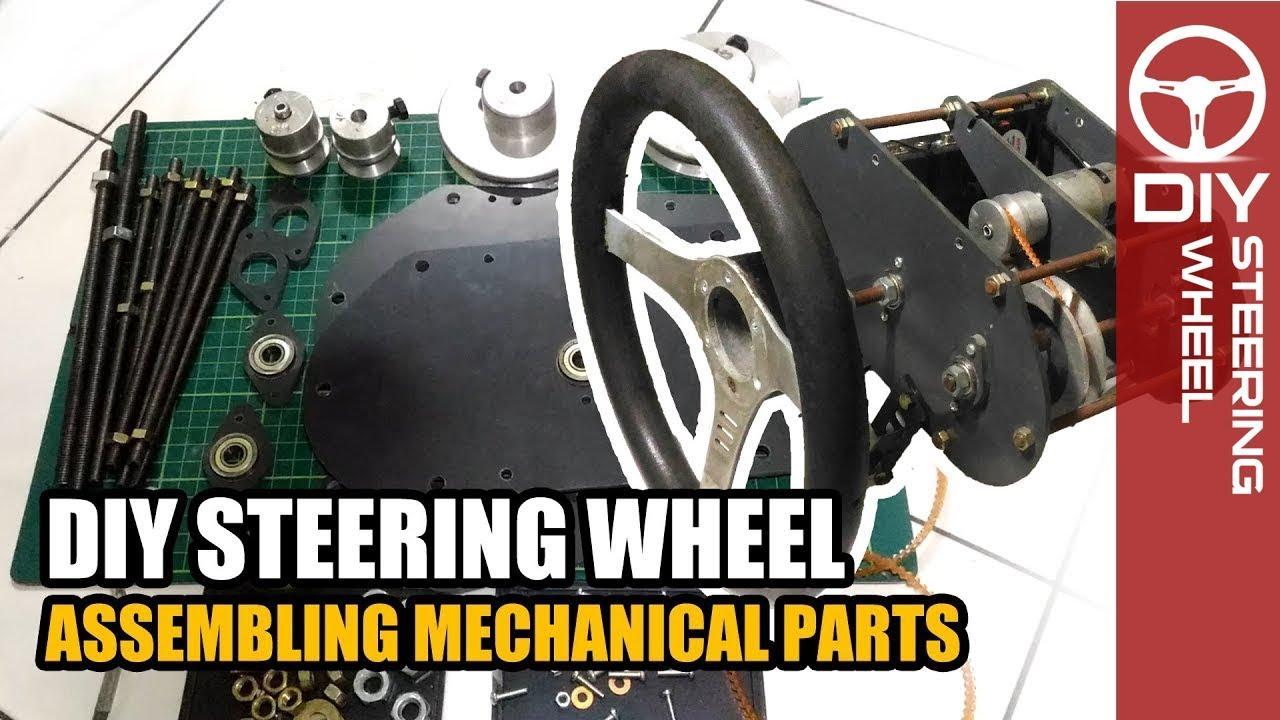 DIY Steering Wheel - assembling mechanical parts - home made