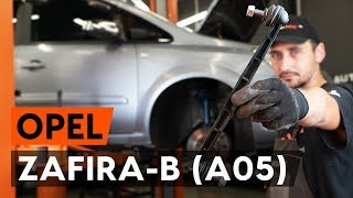 Montage OPEL ZAFIRA B (A05) Axialgelenk Spurstange: kostenloses Video