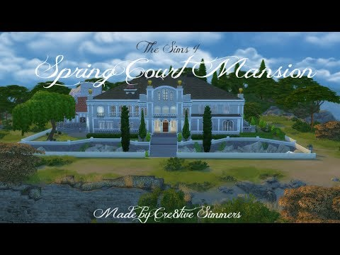 The Sims 4 | House Build: Spring Court Mansion Part 1
