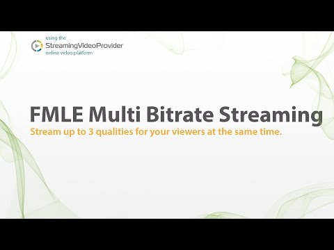 Multi-Bitrate Live Video Streaming with Flash Media Live Encoder FMLE
