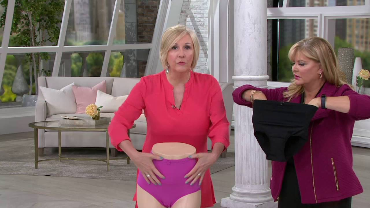 ed27ac4c1b Carol Wior S 2 Microfiber Belly Band Shapewear Brief Panties on QVC ...
