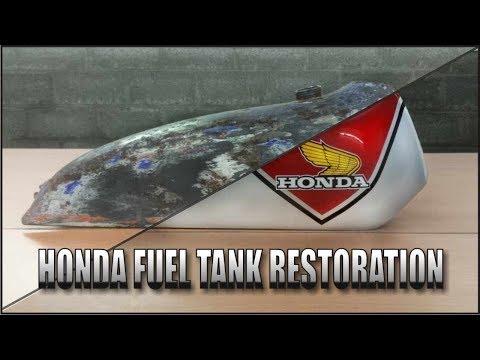 Motorcycle Fuel Tank Restoration ( Honda TL125 70's)