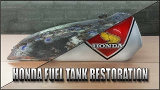 Motorcycle Fuel Tank Restoration ( Honda TL125 70