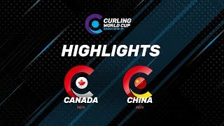 HIGHLIGHTS: China v Canada – Men's – Curling World Cup leg two, Omaha, United States