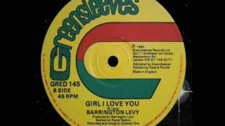 "Barrington Levy - Girl I Love You 12"" (B)  1984"