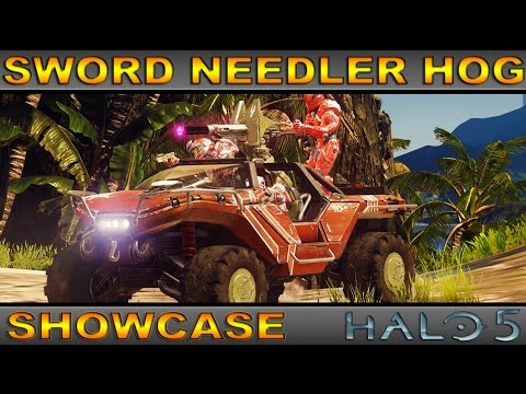 Sword Needler Warthog - Rare Vehicle Showcase  - Halo 5 Guardians