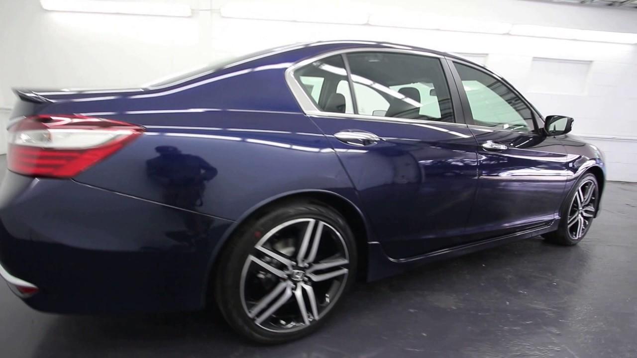 2017 Honda Accord Sport Obsidian Blue Pearl Ha006765 Seattle On