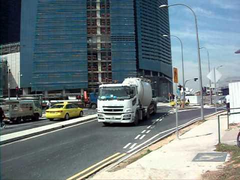 三菱ふそう粉粒体運搬車 Mitsubishi fuso cement tanker trailer