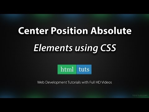 Center HTML Elements With Position Absolute
