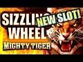 ★$300 ARUZE SLOT CHALLENGE! 💪 ★ SIZZLING WHEEL MIGHTY TIGER Slot Machine Bonus (PART 3 OF 3)