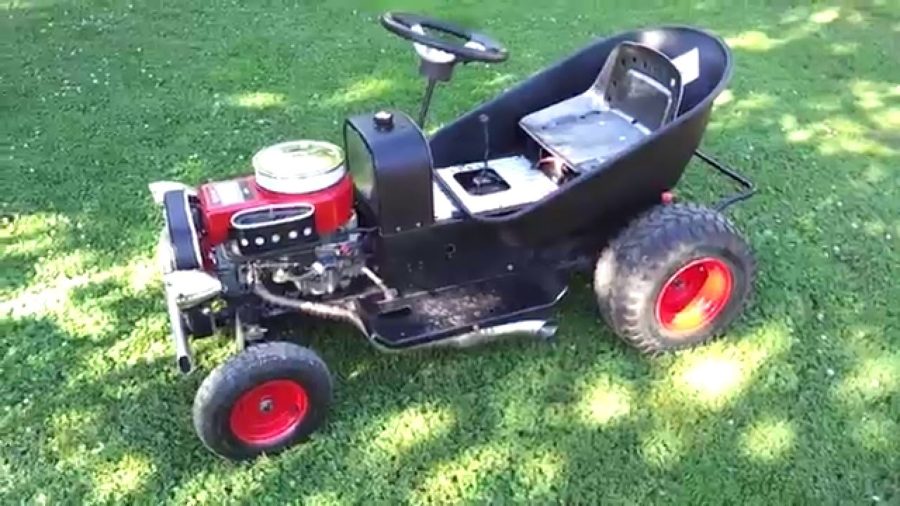 Rat Rod Lawn Mower Idle Youtube