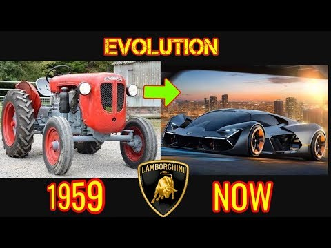 history of lamborghini evolution (1959 - 2018)