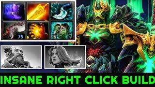 Arteezy [Wraith King] Brutal Damage Insane Right Click Build 7.22 Dota 2