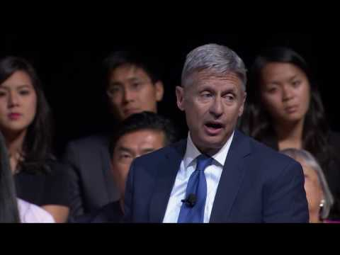Libertarian Presidential Nominee Gov. Gary Johnson at the 2016 Presidential Election Forum #PowerUp