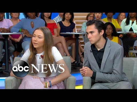 Parkland school shooting survivors David and Lauren Hogg talk about becoming activists