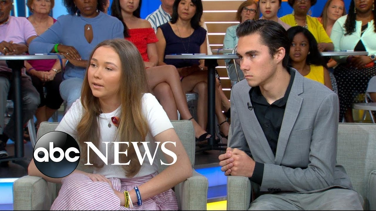 Parkland school shooting survivors David and Lauren Hogg talk about becoming activists